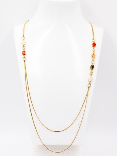 New design Gold Plated chain Carnelian Chain in Multi-Color color
