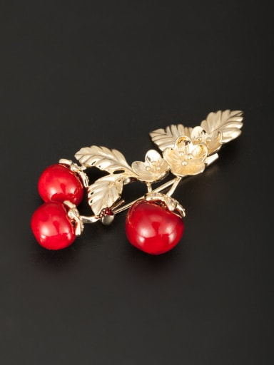 Blacksmith Made Gold Plated Beads Flower Lapel Pins & Brooche