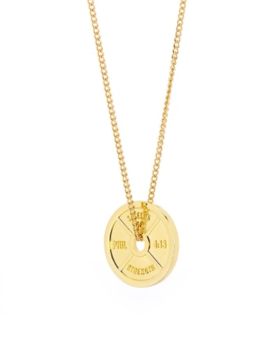 Fashion Gold Plated Titanium Round necklace