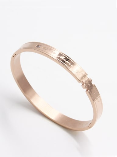 style with Stainless steel Zircon Bangle   63MMX55MM