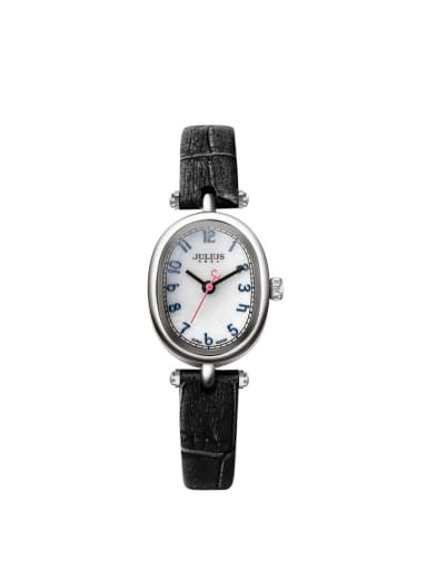 Model No A000450W-001 Women 's Black Women's Watch Japanese Quartz Oval with 24-27.5mm