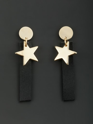 Blacksmith Made Gold Plated Star Drop drop Earring
