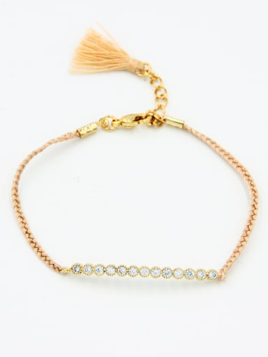 Model No B004413 A Gold Plated Stylish  Zircon Bracelet Of