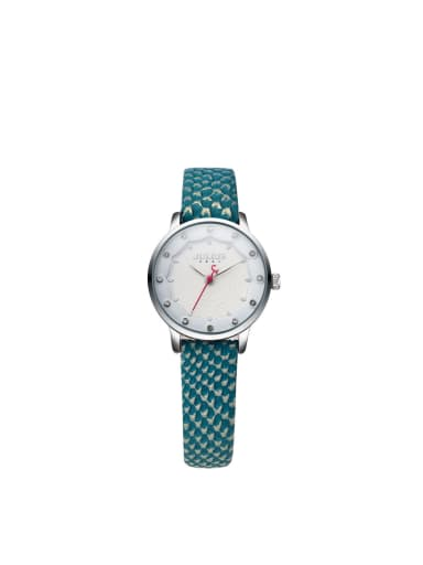 Model No 1000003379 24-27.5mm size Alloy Round style Genuine Leather Women's Watch