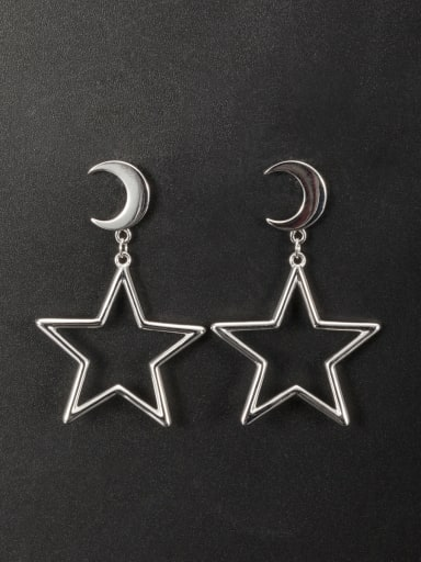 New design Platinum Plated Zinc Alloy Star Drop drop Earring in color