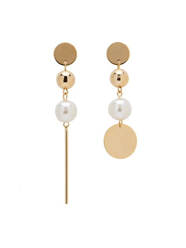 Gold Plated Zinc Alloy Charm Pearl Drop drop Earring