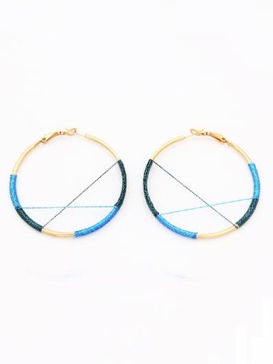 Gold Plated Round  Hoop hoop Earring