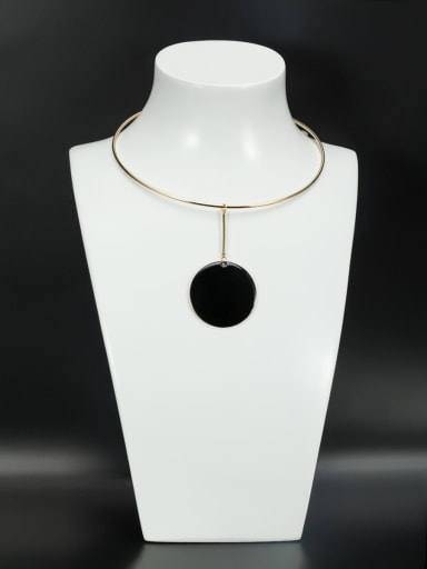 Custom Round Choker with Gold Plated