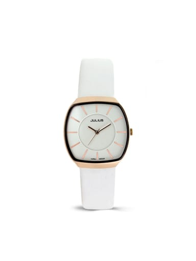Women 's White Women's Watch Japanese Quartz Square with 24-27.5mm