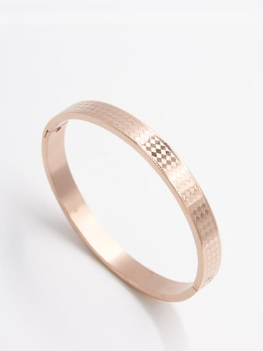Rose  Bangle with Stainless steel     63MMX55MM