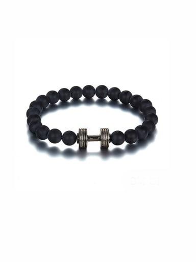 Black color Zinc Alloy Beads Bracelet