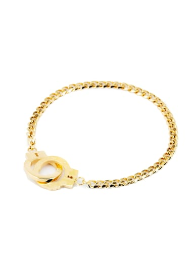 Gold Personalized Youself ! Gold Plated Titanium  Bracelet