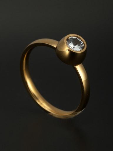 Stainless steel Gold Rhinestone Beautiful Ring 6-8#