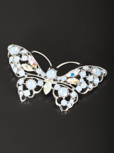 Butterfly style with Platinum Plated Rhinestone Lapel Pins & Brooche