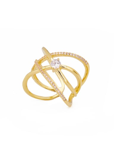 Gold Plated Zinc Alloy Gold Beautiful Stacking Stacking Ring