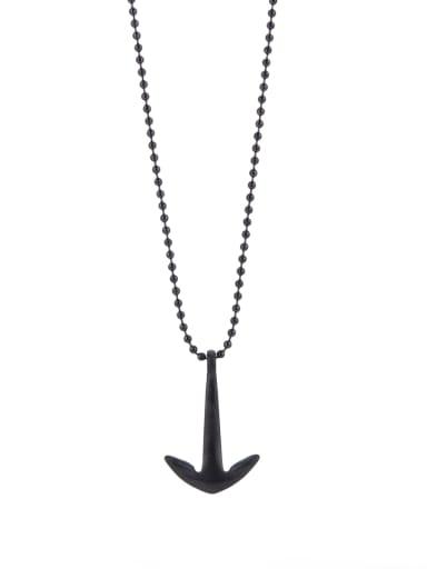 Black Hook Youself ! Gun Color plated Titanium  necklace