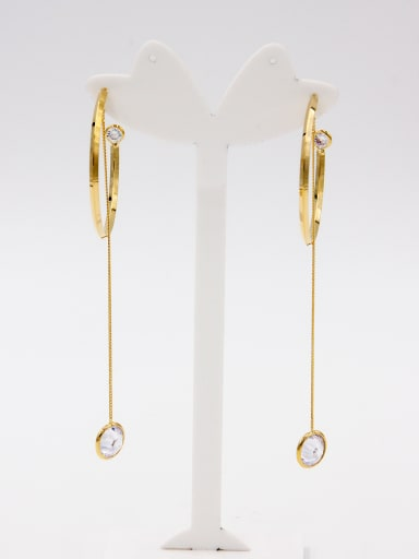 A Gold Plated Stylish  Hoop hoop Earring Of