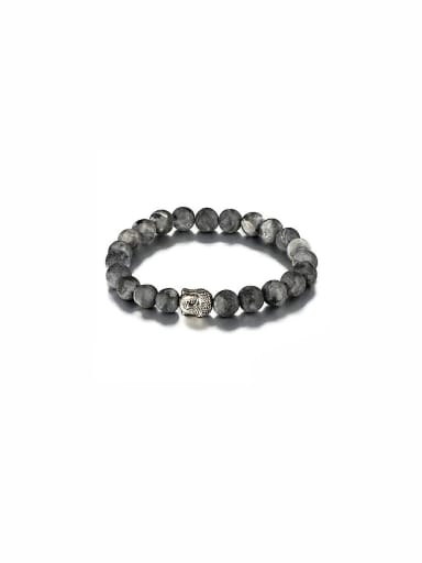 Personalized Zinc Alloy Grey Charm Carnelian Bracelet
