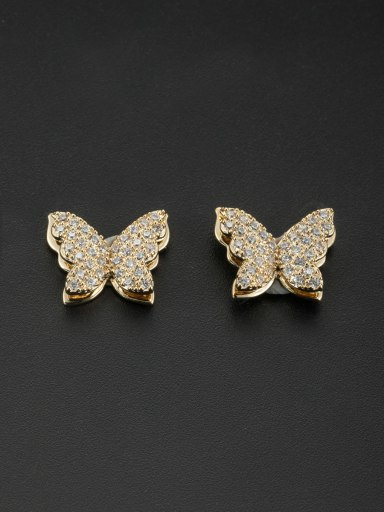 Blacksmith Made Gold Plated Zircon Butterfly Studs stud Earring