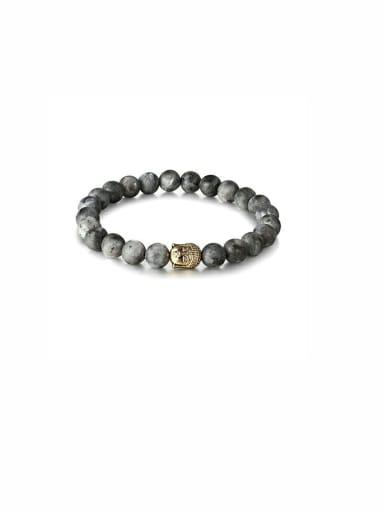 Grey Charm Youself ! Carnelian Bracelet