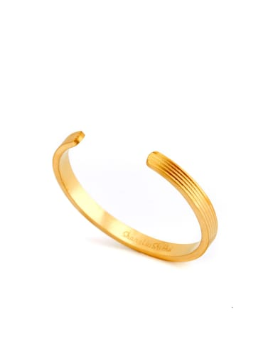 Fringe Bangle with Gold Plated Titanium