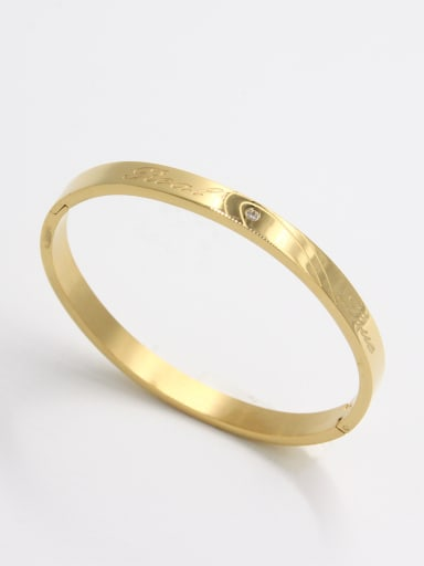 White  Bangle with Stainless steel Diamond  59mmx50mm