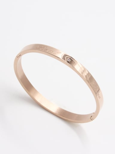 Model No A000025H-001 Blacksmith Made Stainless steel Zircon  Bangle  59mmx50mm