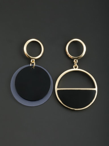 New design Gold Plated Round Acrylic Drop drop Earring in Multicolor color