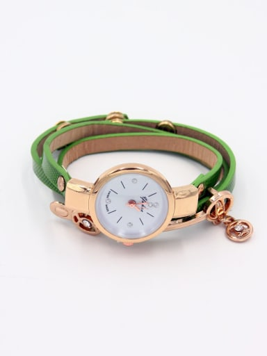 Women 's Green Women's Watch Quartz Round with 23-25mm