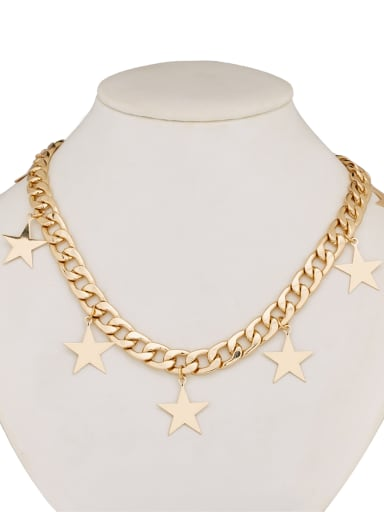 A Gold Plated Zinc Alloy Stylish  necklace Of