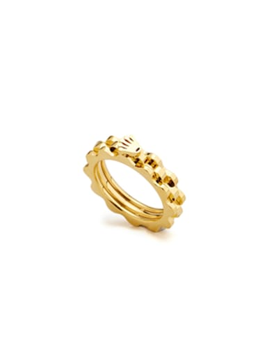 Model No 1000003844 Gold Plated Stainless steel Gold Ring
