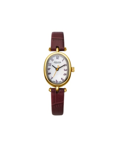 Women 's Wine Women's Watch Japanese Quartz Oval with 24-27.5mm