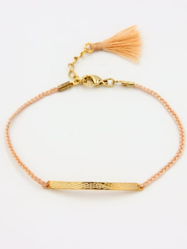 Mother's Initial Nude Bracelet with