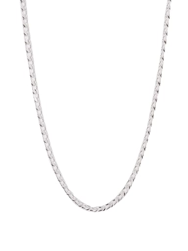 chain Silver-Plated Titanium Rust Necklace