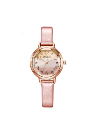 Model No 1000003136 24-27.5mm size Alloy Round style Genuine Leather Women's Watch