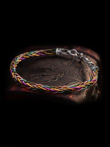 Multicolor Handmade Chinlon  Bracelet