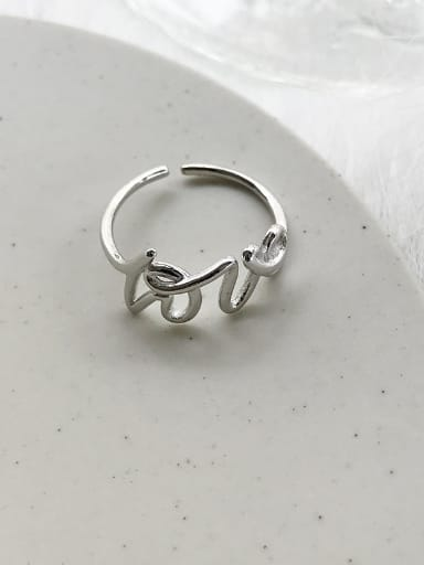 A 925 silver Stylish  Band band ring Of Monogrammed