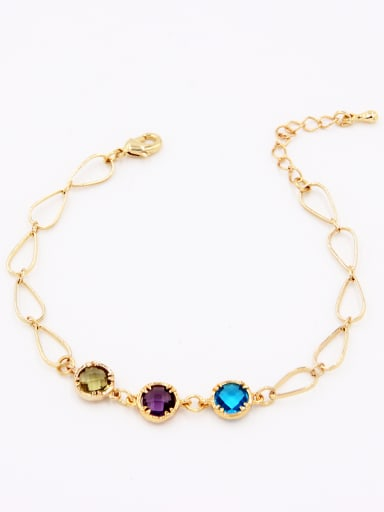 A Gold Plated Stylish  Zircon Bracelet Of