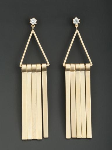 Gold Plated Triangle White Zircon Beautiful Drop drop Earring