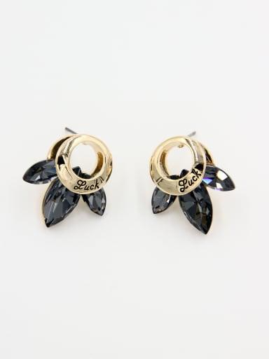 Model No OXB896542B Gold Plated Swarovski Crystals Studs stud Earring