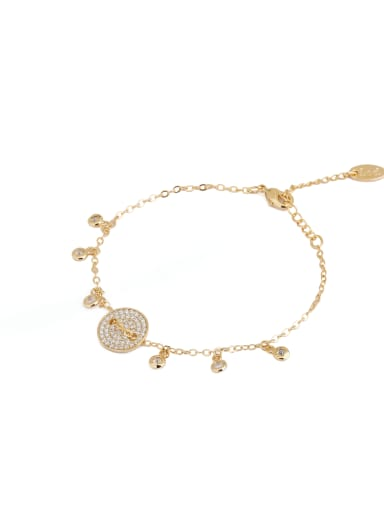 A Gold Plated Zinc Alloy Stylish  Bracelet Of