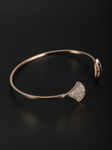 Blacksmith Made Rose Plated Zircon Bangle