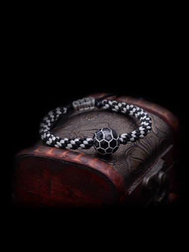 Handmade Chinlon Black Bracelet