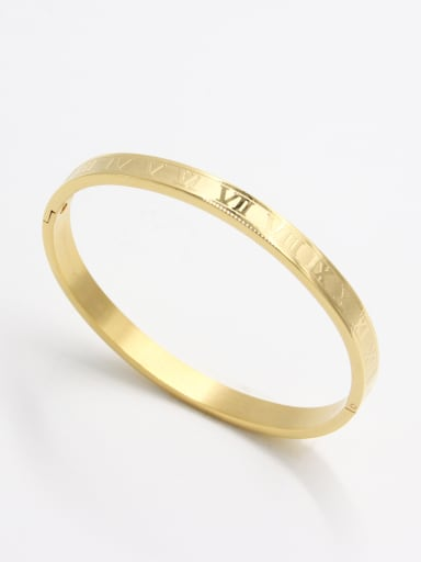 Gold  Youself ! Stainless steel   Bangle   59mmx50mm