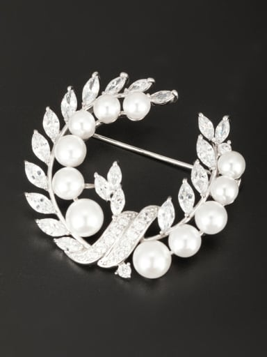Platinum Plated  Pearl Lapel Pins & Brooche
