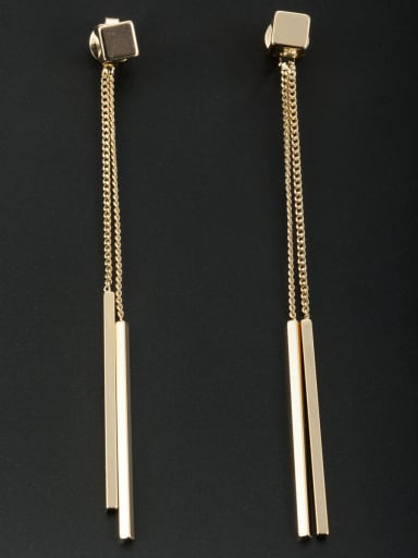 A Gold Plated Stylish  Drop drop Earring Of Square