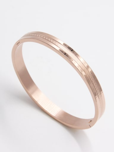 Custom Rose  Bangle with Stainless steel   63MMX55MM