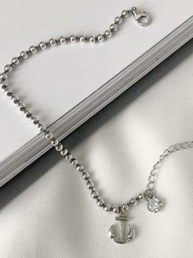 Silver Hook Youself ! Silver-Plated 925 Silver Rhinestone Bracelet