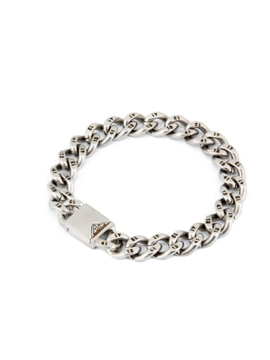Blacksmith Made Silver-Plated Titanium chain Bracelet