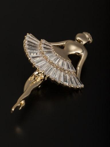 Gold Plated Copper Zircon Lapel Pins & Brooche